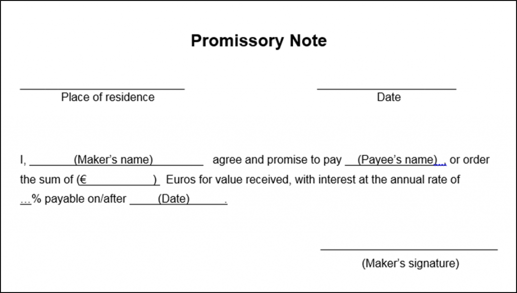 Promissory Note Definition And Parties Involved Paiementor